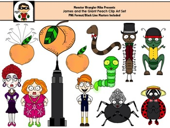 James and the Giant Peach Clip Art Collection by Monster Wrangler.