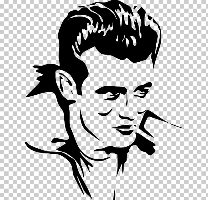 Silhouette Drawing Visual arts Line art, James dean PNG.