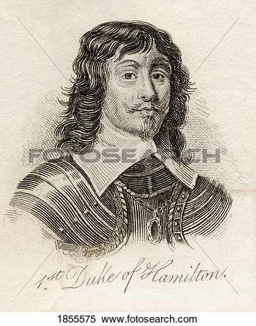 Stock Image of James Hamilton 1St Duke Of Hamilton 1606 1649.