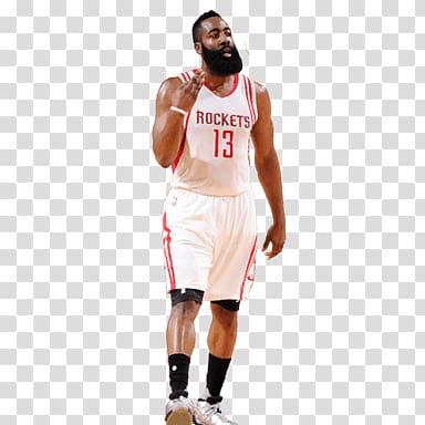 Houston Rockets 13 James Harden, James Harden Standing transparent.