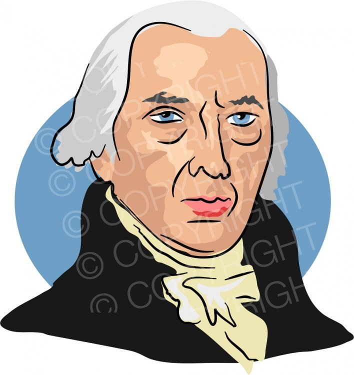 American President James Madison Clipart Illustration.