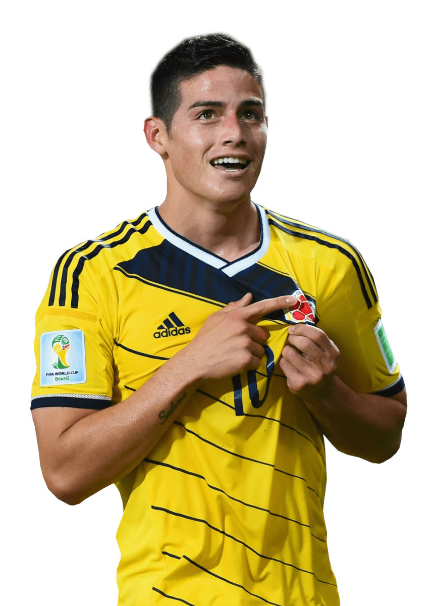 James Rodríguez Holding Shirt transparent PNG.
