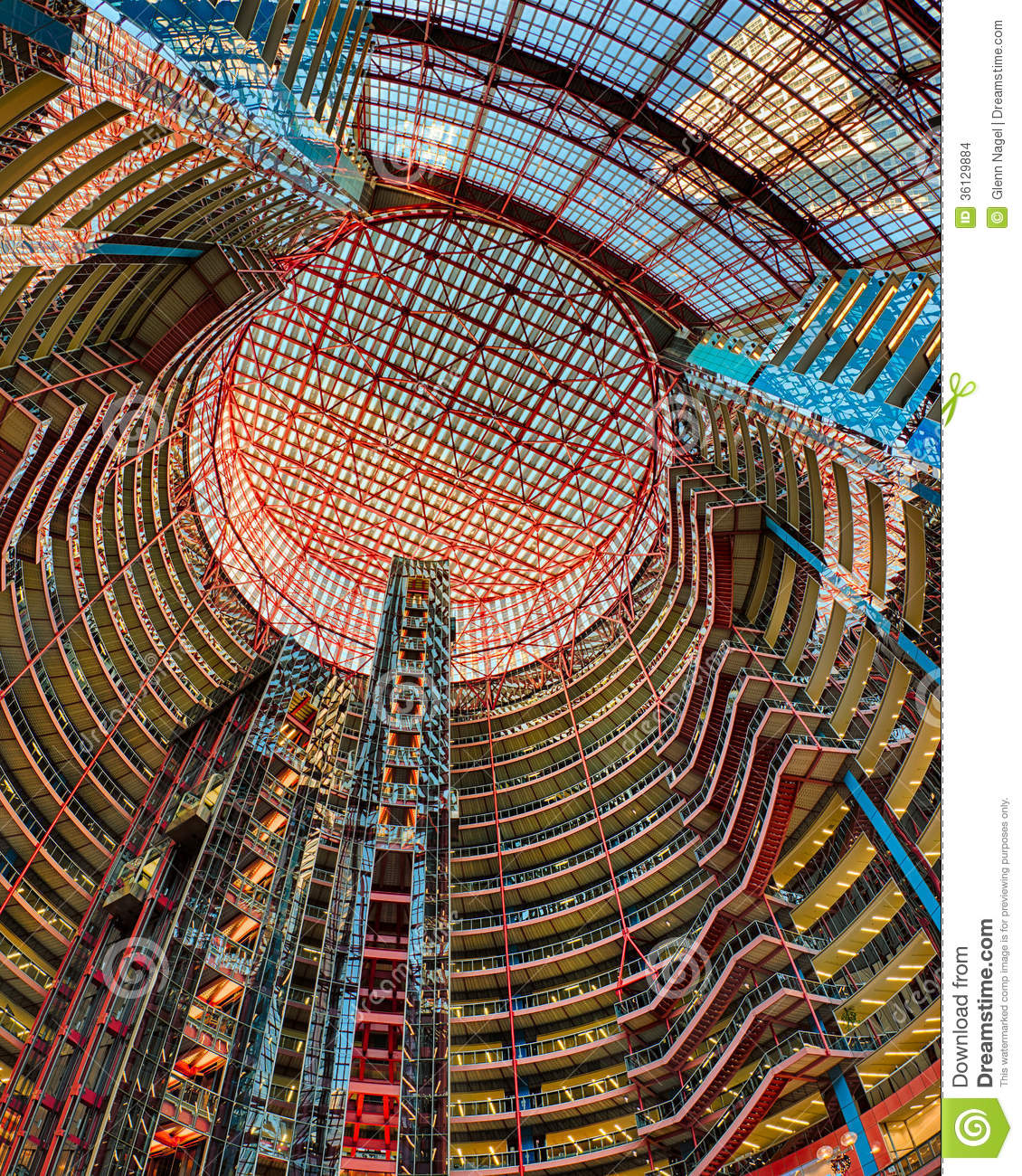 James R. Thompson Center Editorial Stock Image.
