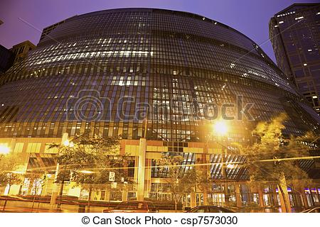 Stock Photography of James R. Thompson Center in downtown of.