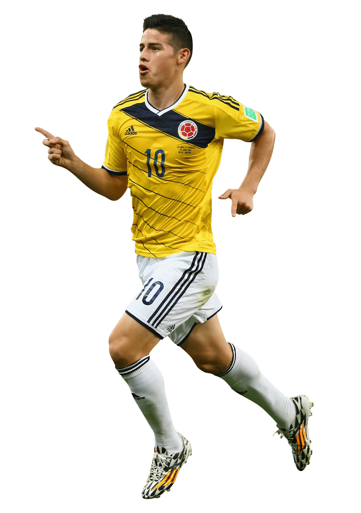James Rodríguez Running transparent PNG.