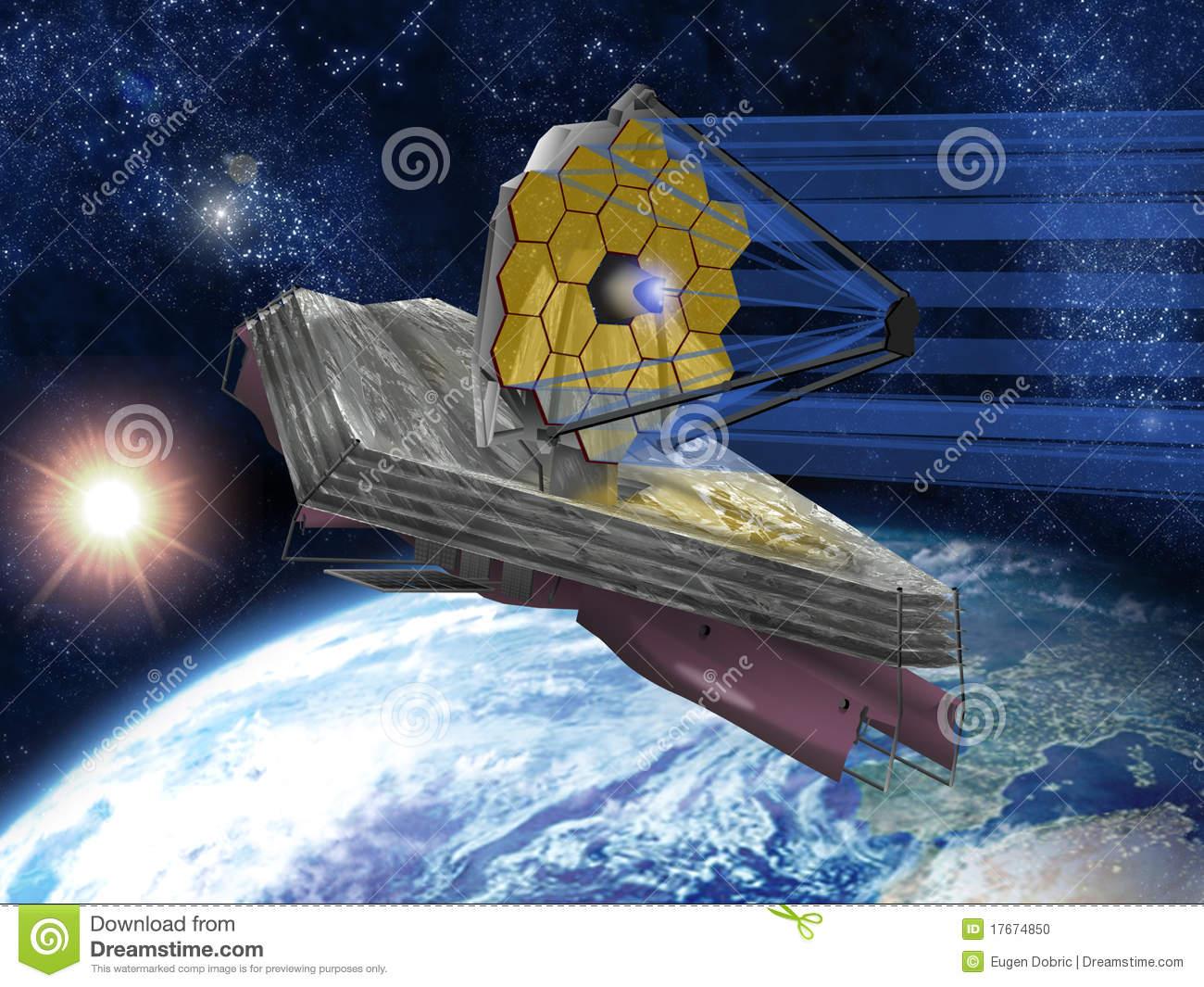 James Webb Space Telescope Stock Photo.