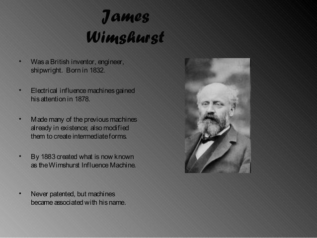 The Wimshurst Influence Machine.