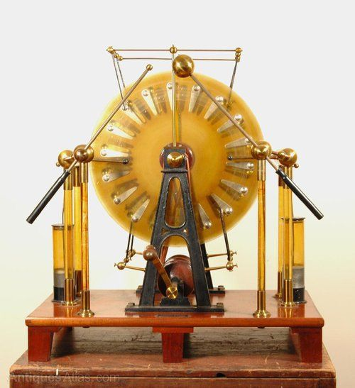 Six Plate Wimshurst Machine electrostatic generator, a machine for.