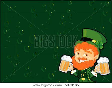 Irish Beer Drinker Clipart.