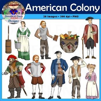 American Colony Clip Art (Jamestown, John Smith, England.