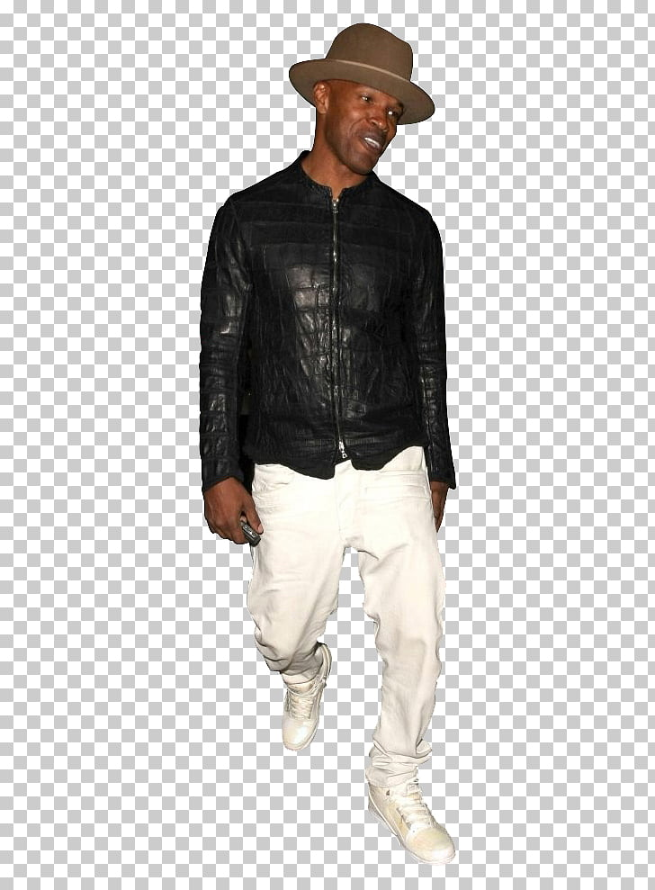 Leather jacket, Jamie Foxx PNG clipart.