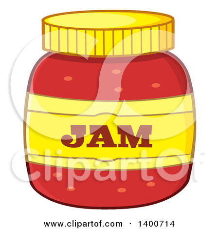 Clipart of a Jar of Jam.