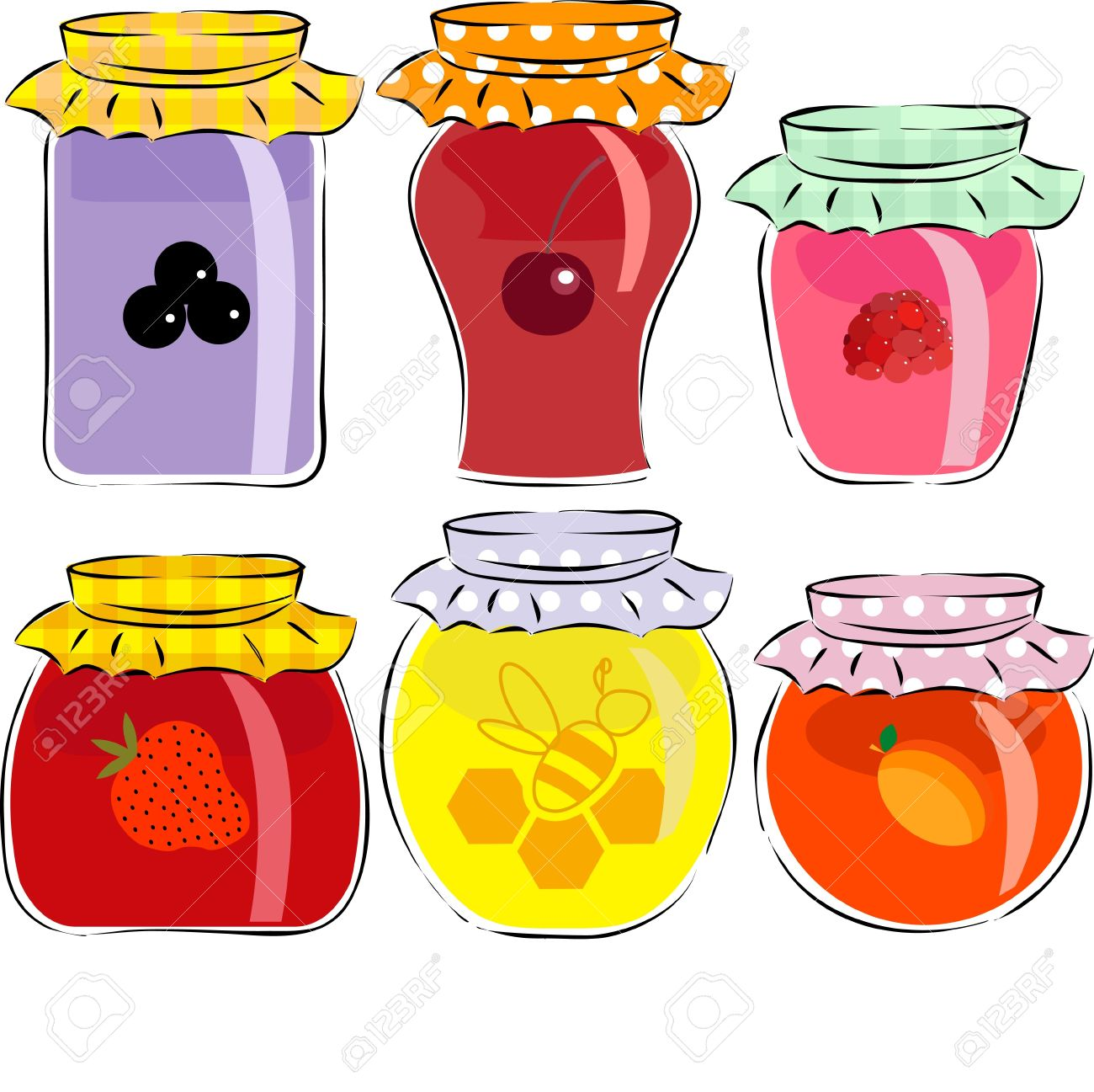 Jar of jam clipart free.