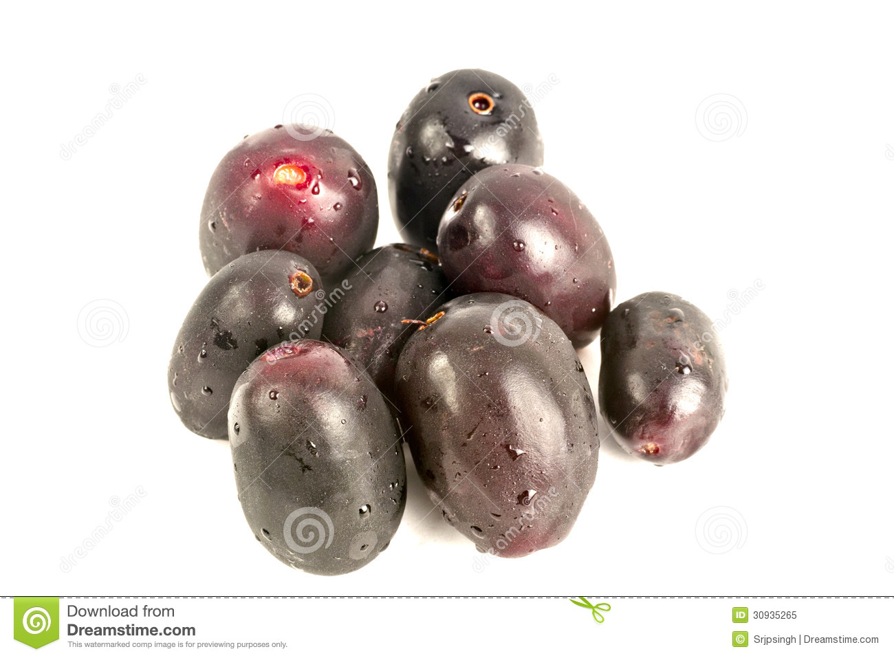 Jambul Or Jamun (Syzygium Cumini) Royalty Free Stock Photo.