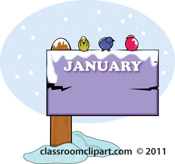 January Calendar Clipart.