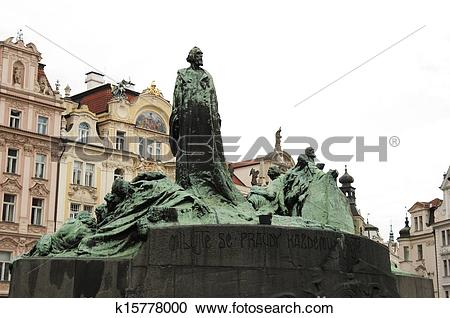 Stock Photography of Statue of Jan Hus, Prague.