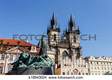 Stock Photo of Statue of jan Hus k18943024.