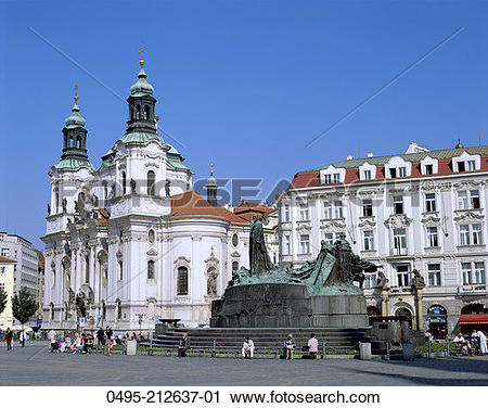 Stock Photography of Czech Republic, The Old Town Square.