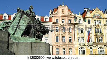 Stock Photography of Jan Hus Monument Prague. k18000600.