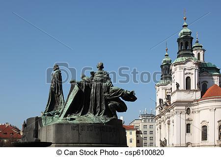 Stock Photography of Jan Hus Memorial Prague.