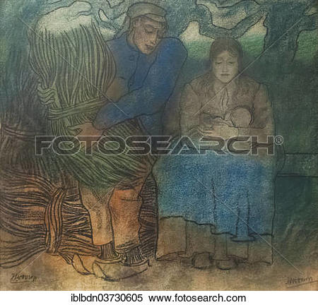 """Stock Image of """"Ouder geluk, or Parents' Happiness, 1891, Jan."""