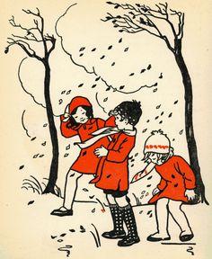 Illustration by Nans van Leeuwen, from a vintage Dutch children's.