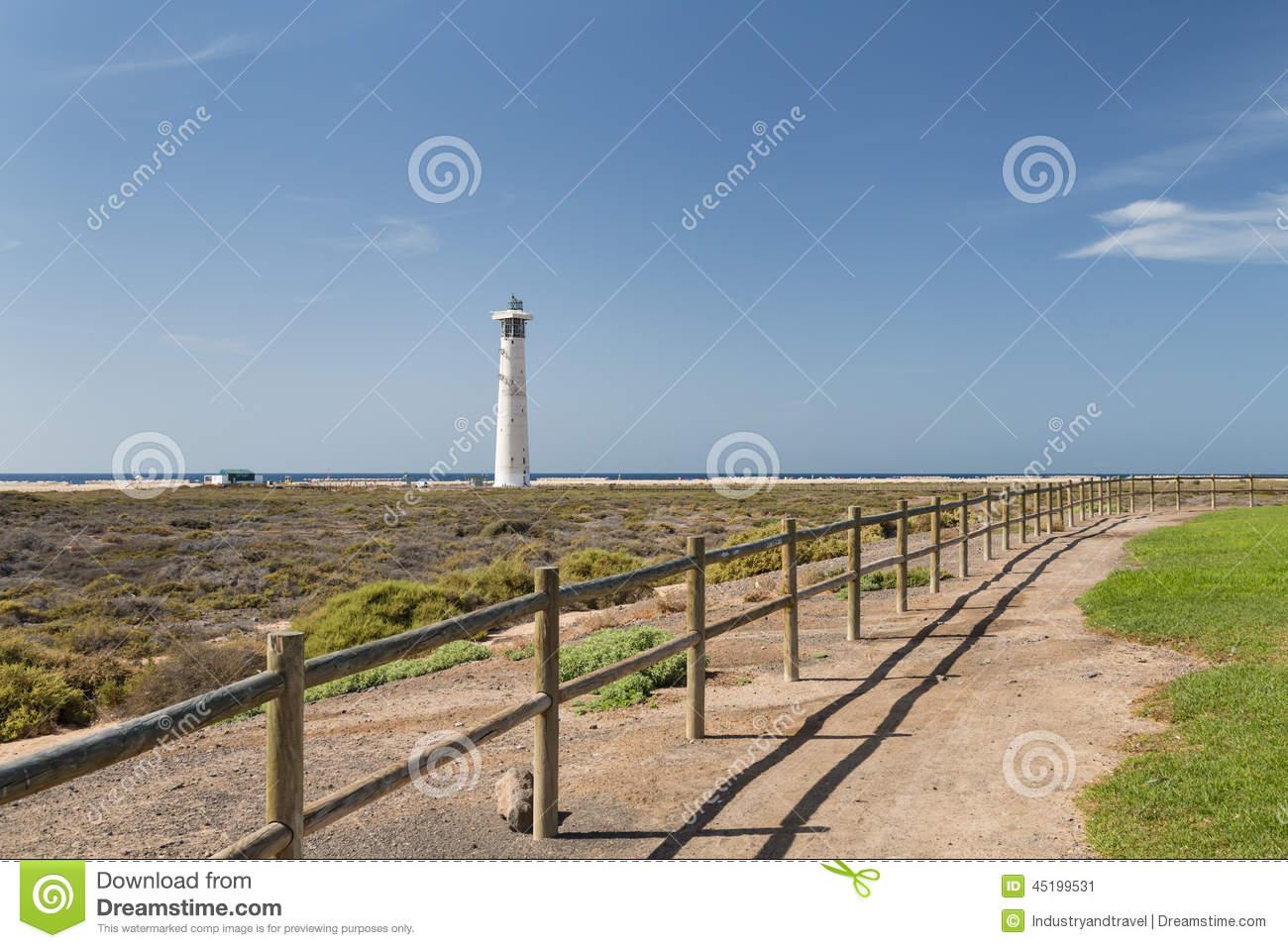 Jandia Lighthouse, Fuerteventura Stock Photo.