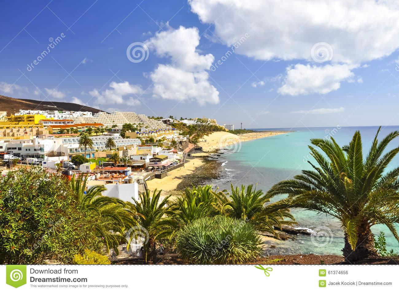 View On The Morro Jable. Jandia. Fuerteventura Stock Photo.