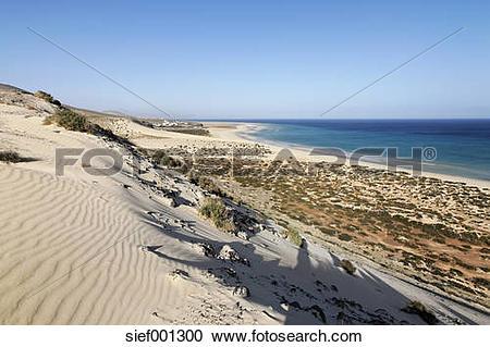 Stock Photography of Spain, Canary Islands, Fuerteventura, Jandia.