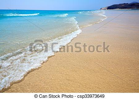 Stock Photo of Jandia beach Mal Nombre Fuerteventura at Canary.