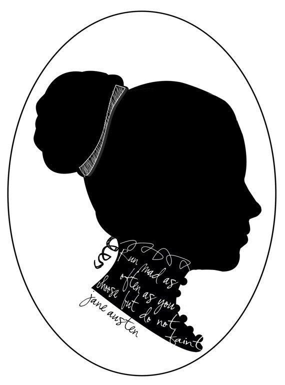 Jane Austen Silhouette.