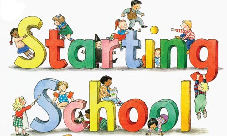 Clipart of starting school.