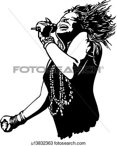 Janis Joplin Clipart.