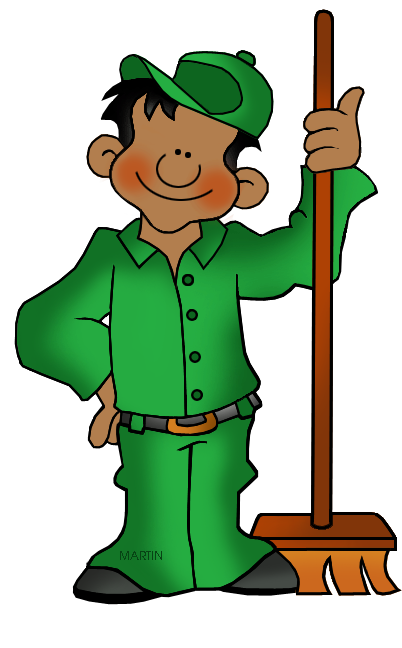 Janitor clipart free.