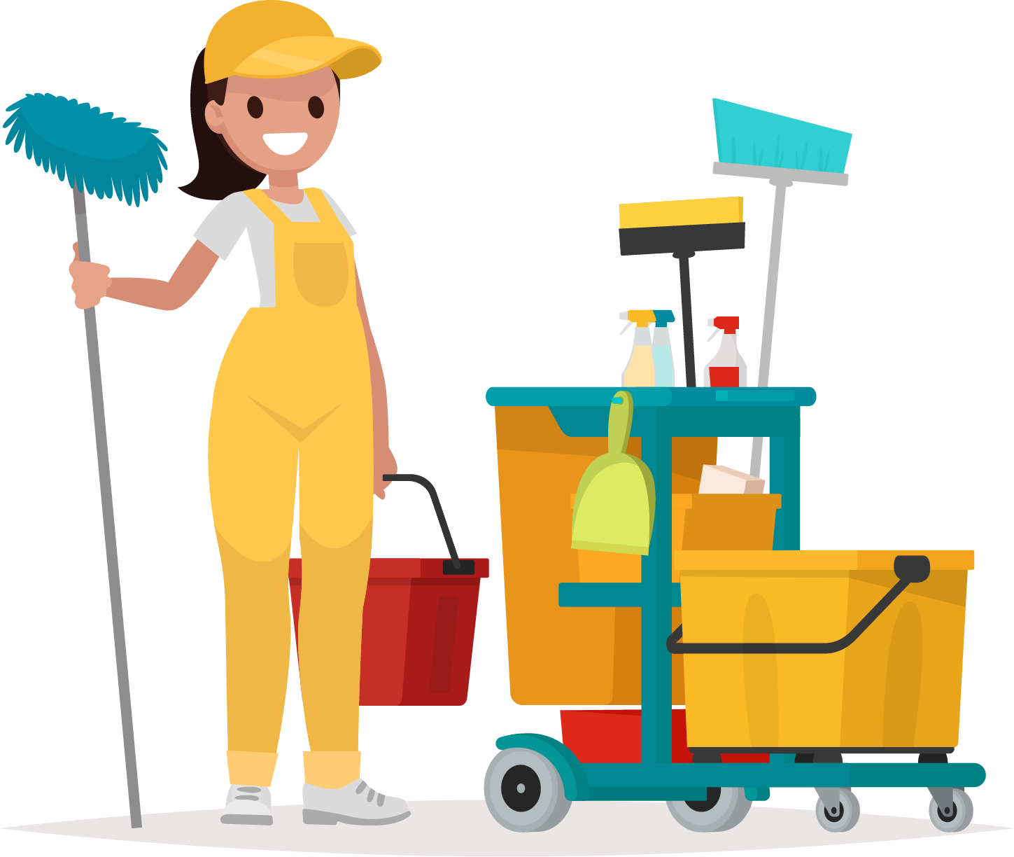 Janitor clipart industrial, Janitor industrial Transparent.