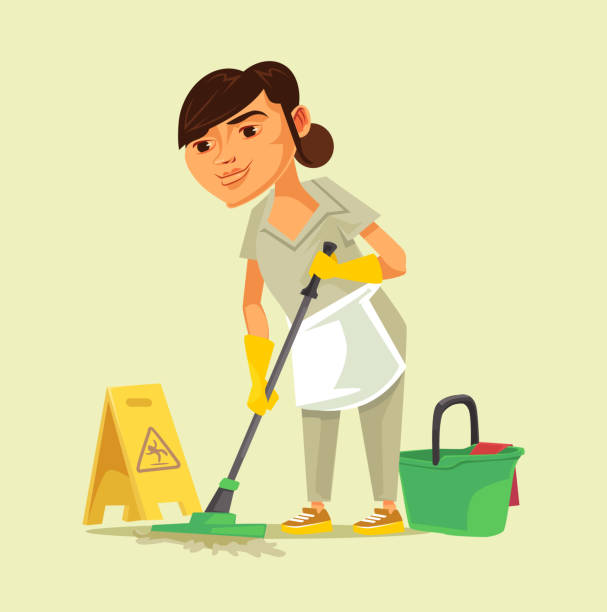 Janitorial Illustrations, Royalty.