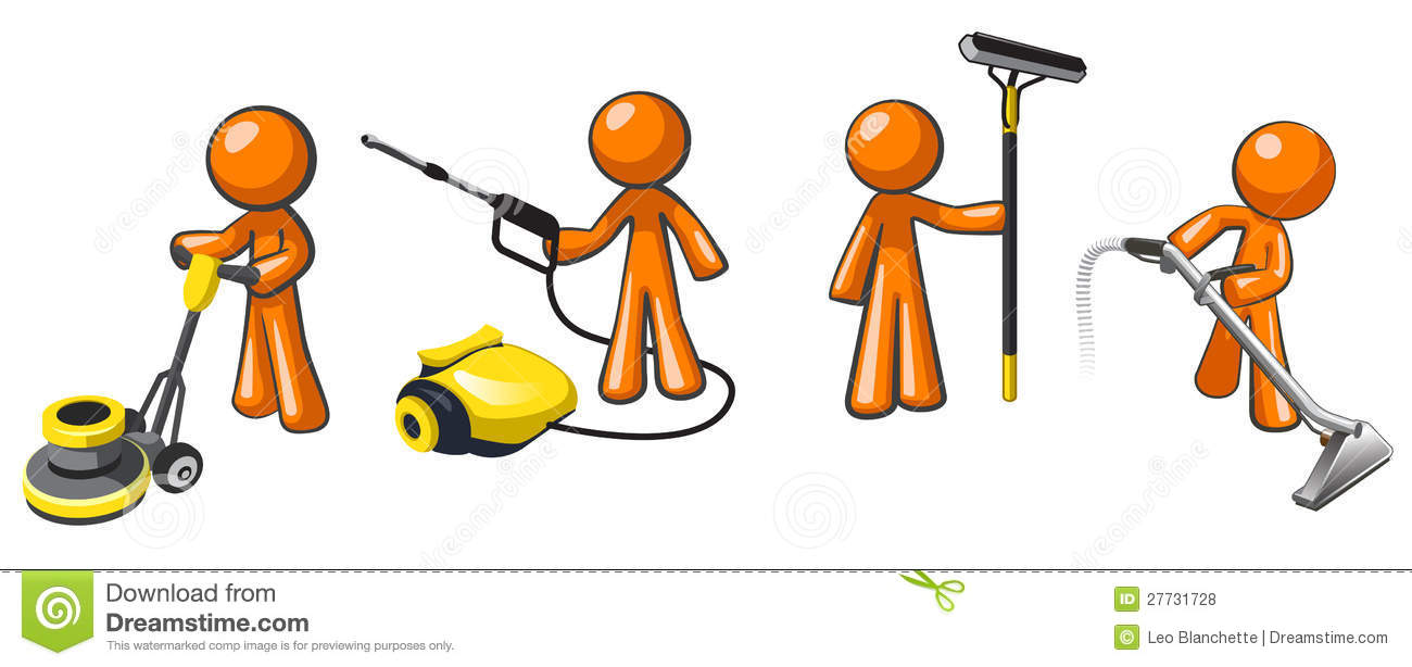 Janitor Stock Illustrations.