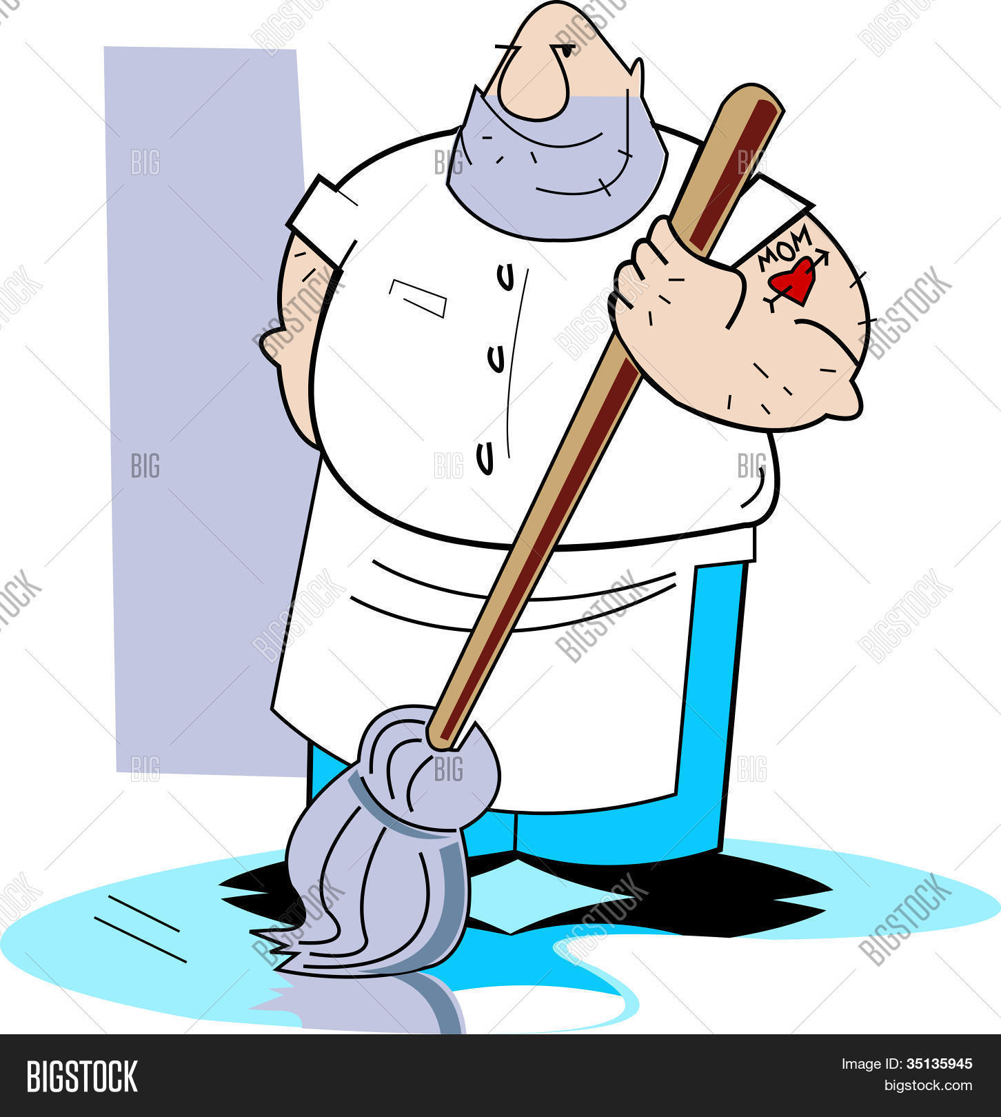 Janitor Janitorial Clip Art Stock Vector & Stock Photos.