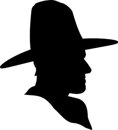 Black hat yankee clipart.
