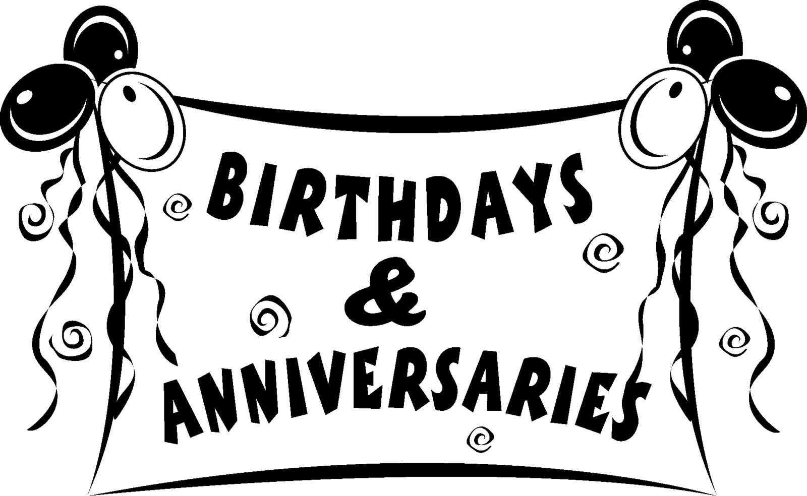 Birthdays And Anniversaries Clipart.