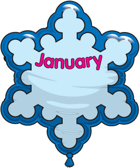 Free Clipart For January Birthdays.