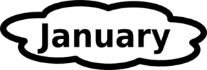 January clipart black and white downloadclipart org.