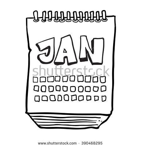 Cartoon Calendar Stock Vector 117437749.
