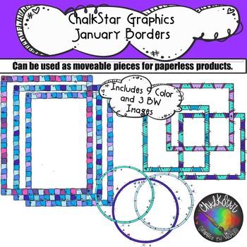 January Borders Clip Art.