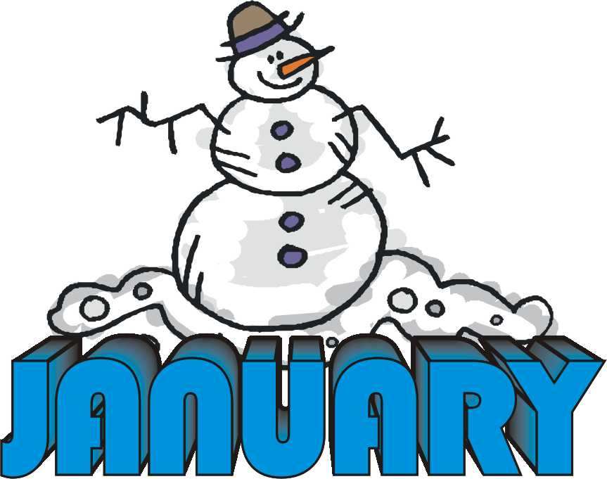 Free clipart images for january.