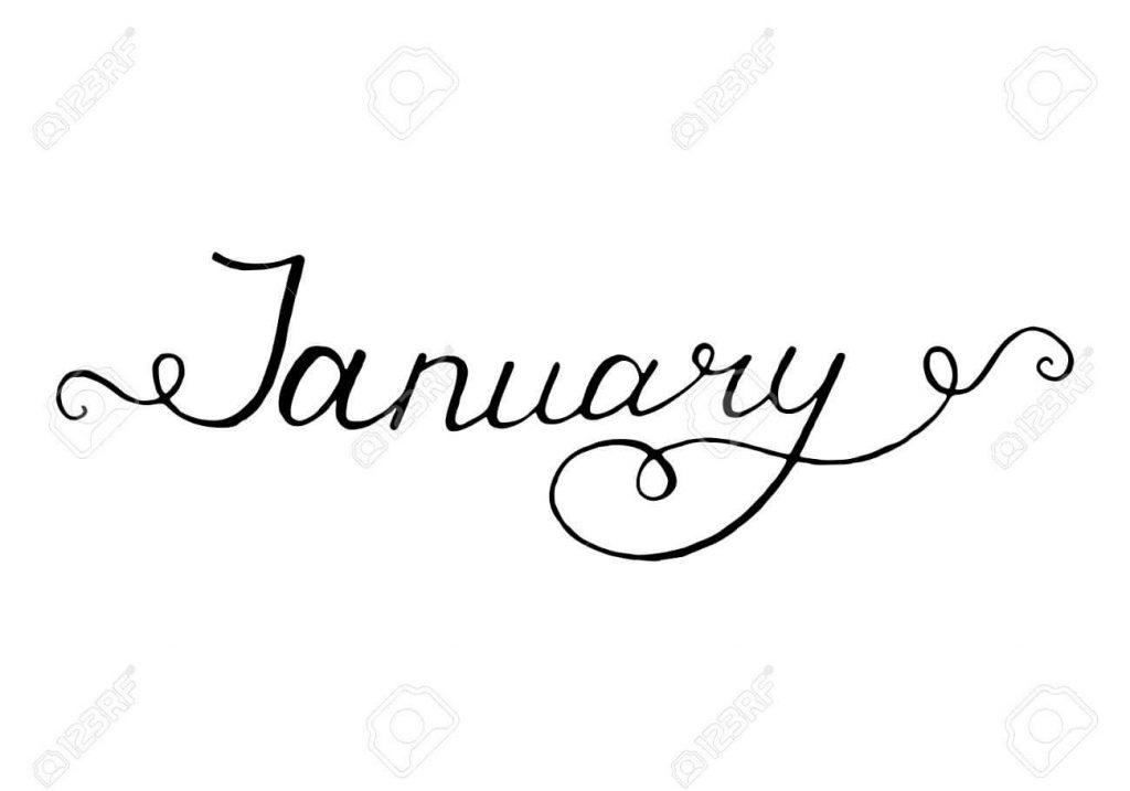 January Clipart 2019.