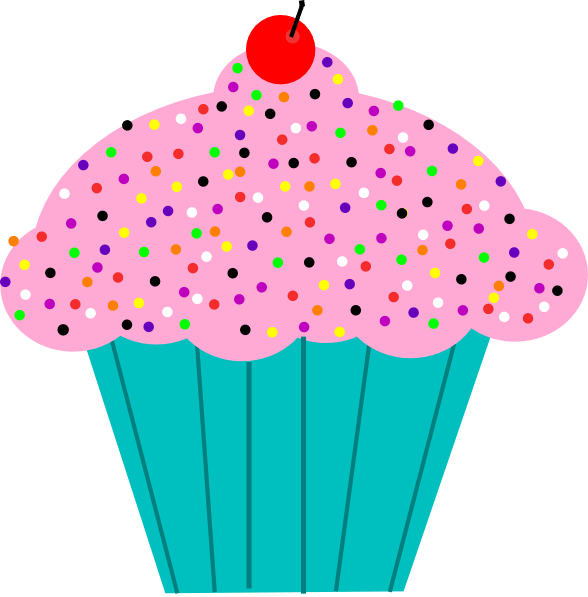 January Cupcake Cliparts.