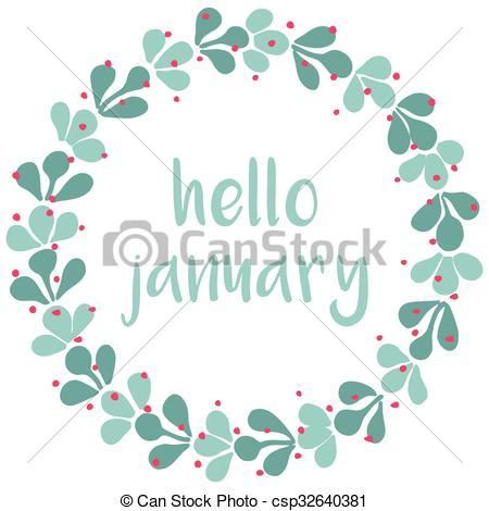 January flower clipart 2 » Clipart Portal.