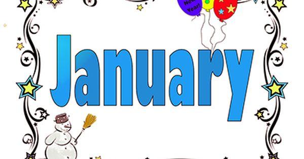 January Calendar Clipart.
