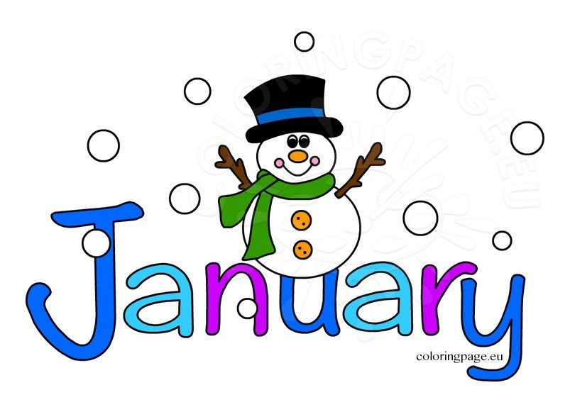 January clipart month year, January month year Transparent.